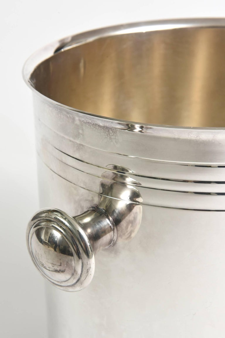 Christofle Silver-Plate Champagne Cooler Ice Bucket  Barware In Good Condition For Sale In North Miami, FL