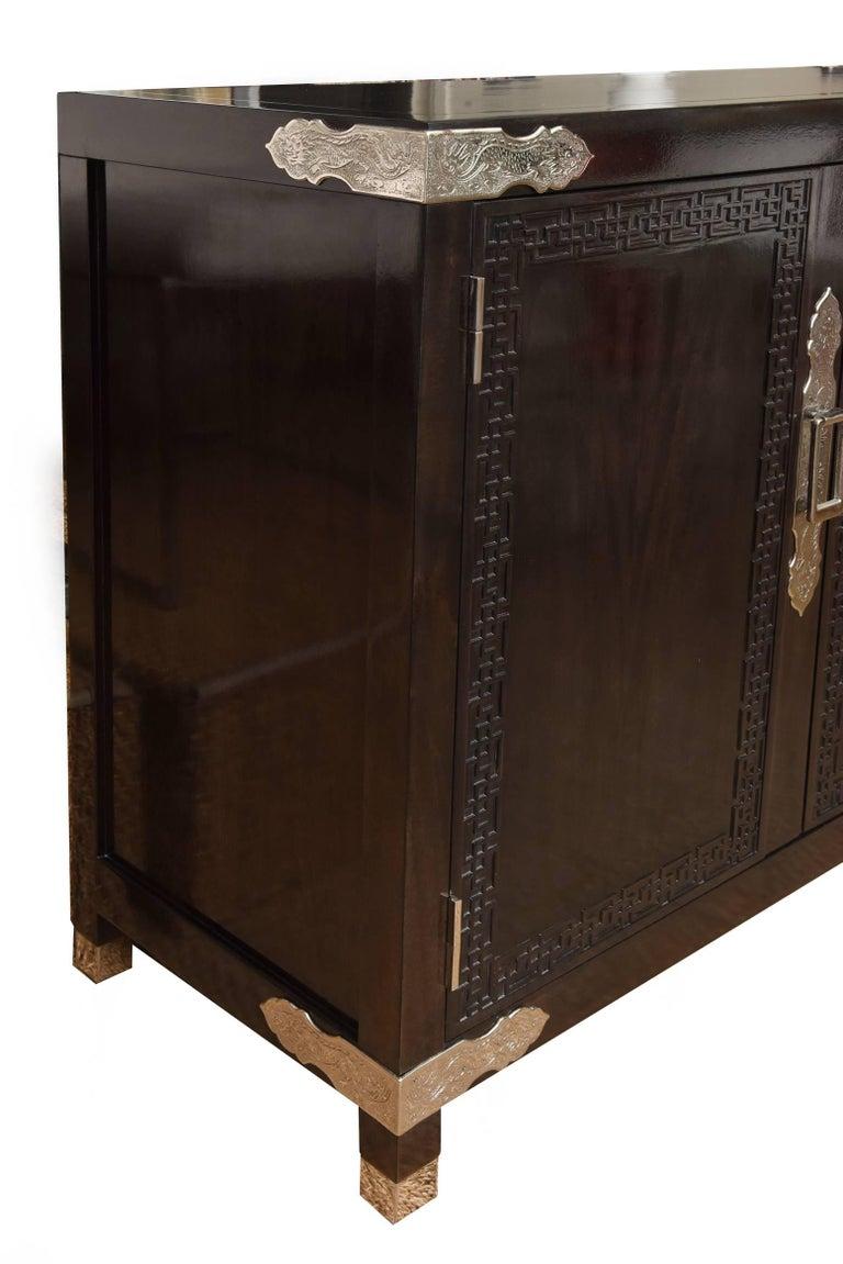 Vintage Midcentury Greek Key Cabinet/Buffet with Original Hardware 4