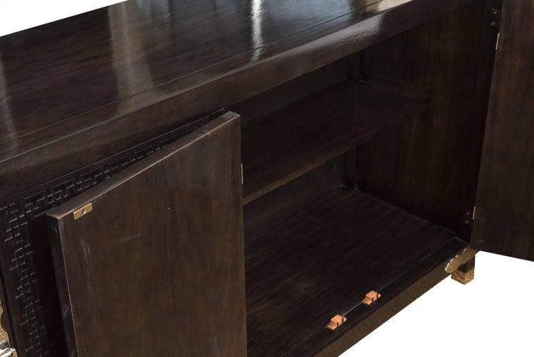 Vintage Midcentury Greek Key Cabinet/Buffet with Original Hardware 8