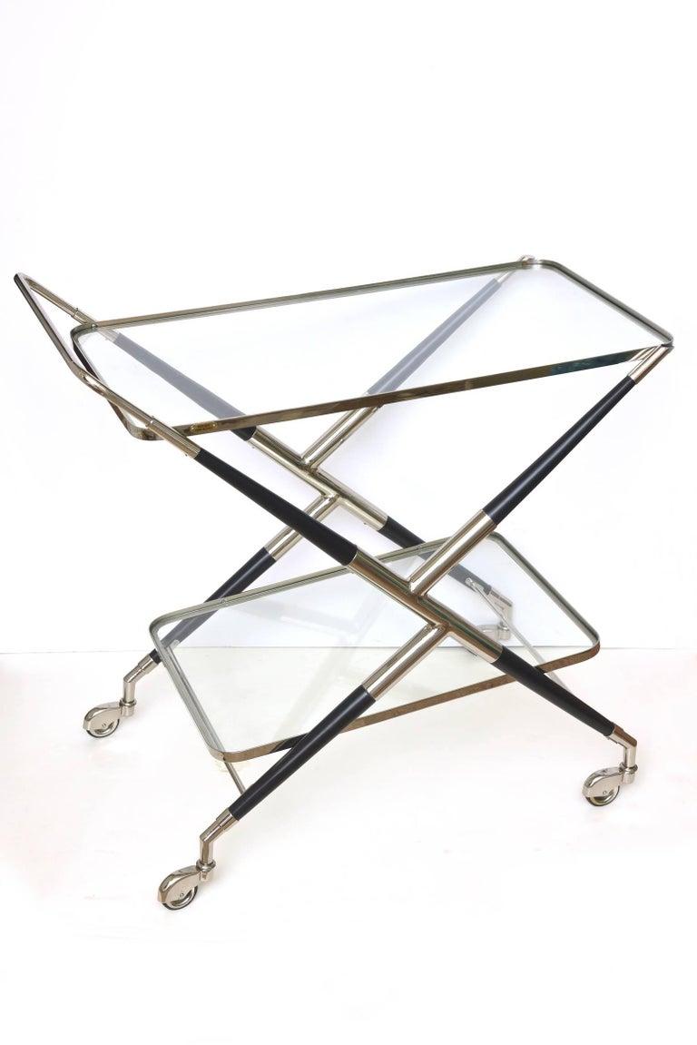 Cesare Lacca Bar Cart or Trolley Italian Mid-Century Modern For Sale 1