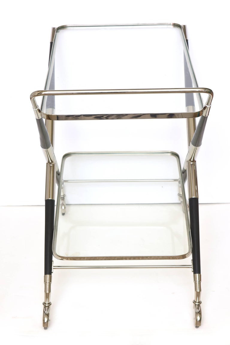 Brass Cesare Lacca Bar Cart or Trolley Italian Mid-Century Modern For Sale