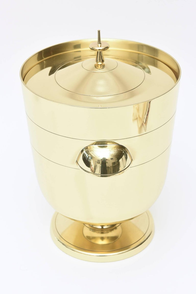 American Tommi Parzinger Brass Ice and Champagne Bucket Barware Mid-Century Modern For Sale