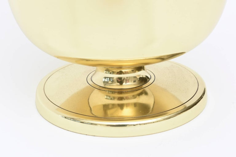 Tommi Parzinger Brass Ice and Champagne Bucket Barware Mid-Century Modern For Sale 3
