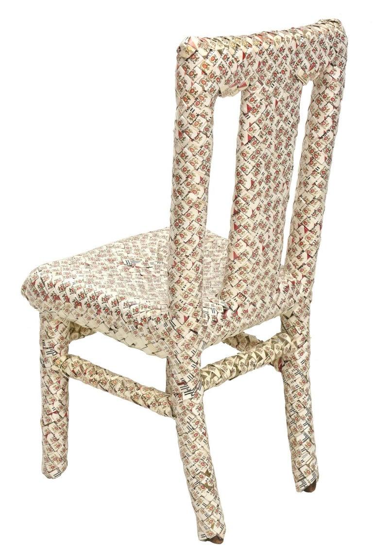 Modern One of a Kind Marlboro Art Chair/ Sculpture For Sale