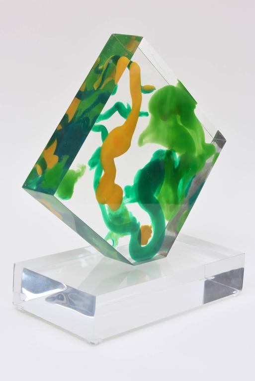 Modern Lucite Abstract Sculpture For Sale