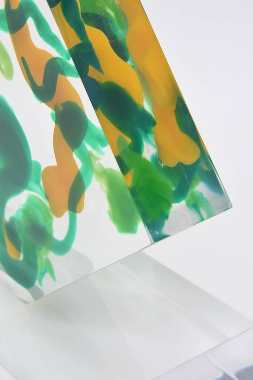 Lucite Abstract Sculpture For Sale 2