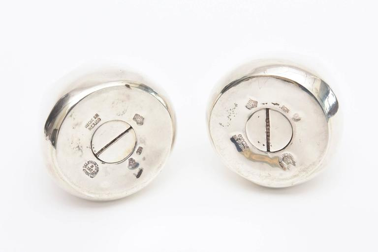 Mid-20th Century Antonio Pineda Sterling Silver Salt and Pepper Shakers Mid-Century Modern For Sale