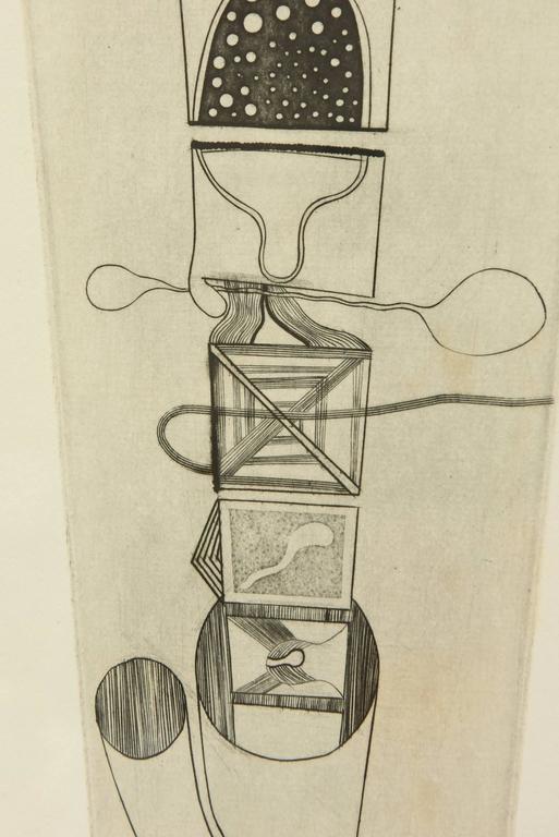 Mid-20th Century Takashi Matsutani Japanese Etching Titled