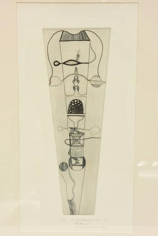Takashi Matsutani Japanese Etching Titled