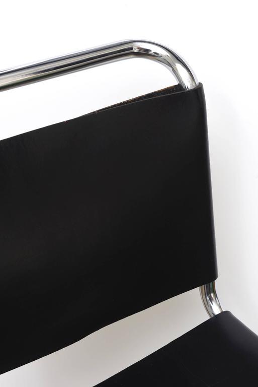 Set Of Six Classic Mies Van Der Rohe Tubular Leather Mr