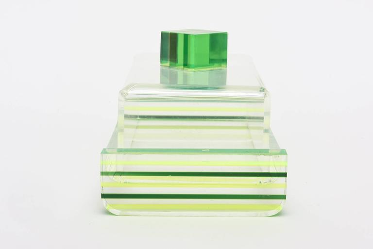 Late 20th Century Charles Hollis Jones Style Colored Lucite Two-Part Box For Sale