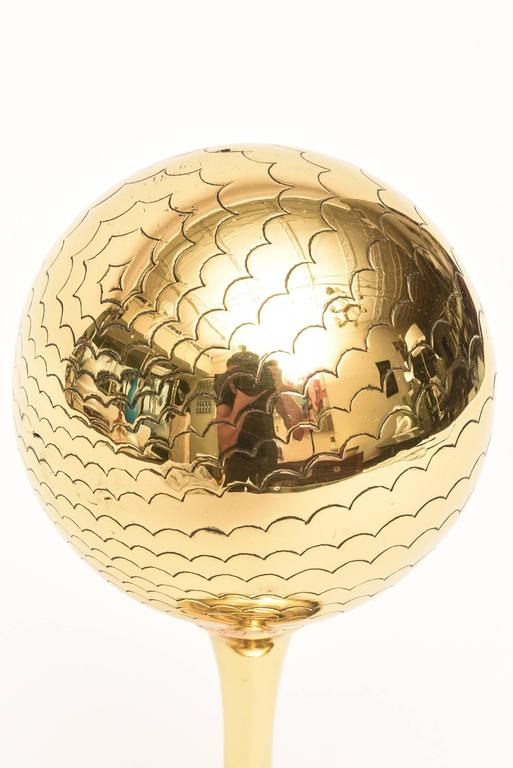 Polished Brass Vintage Mid Century Modern Globe Style Sculpture /Object For Sale 4