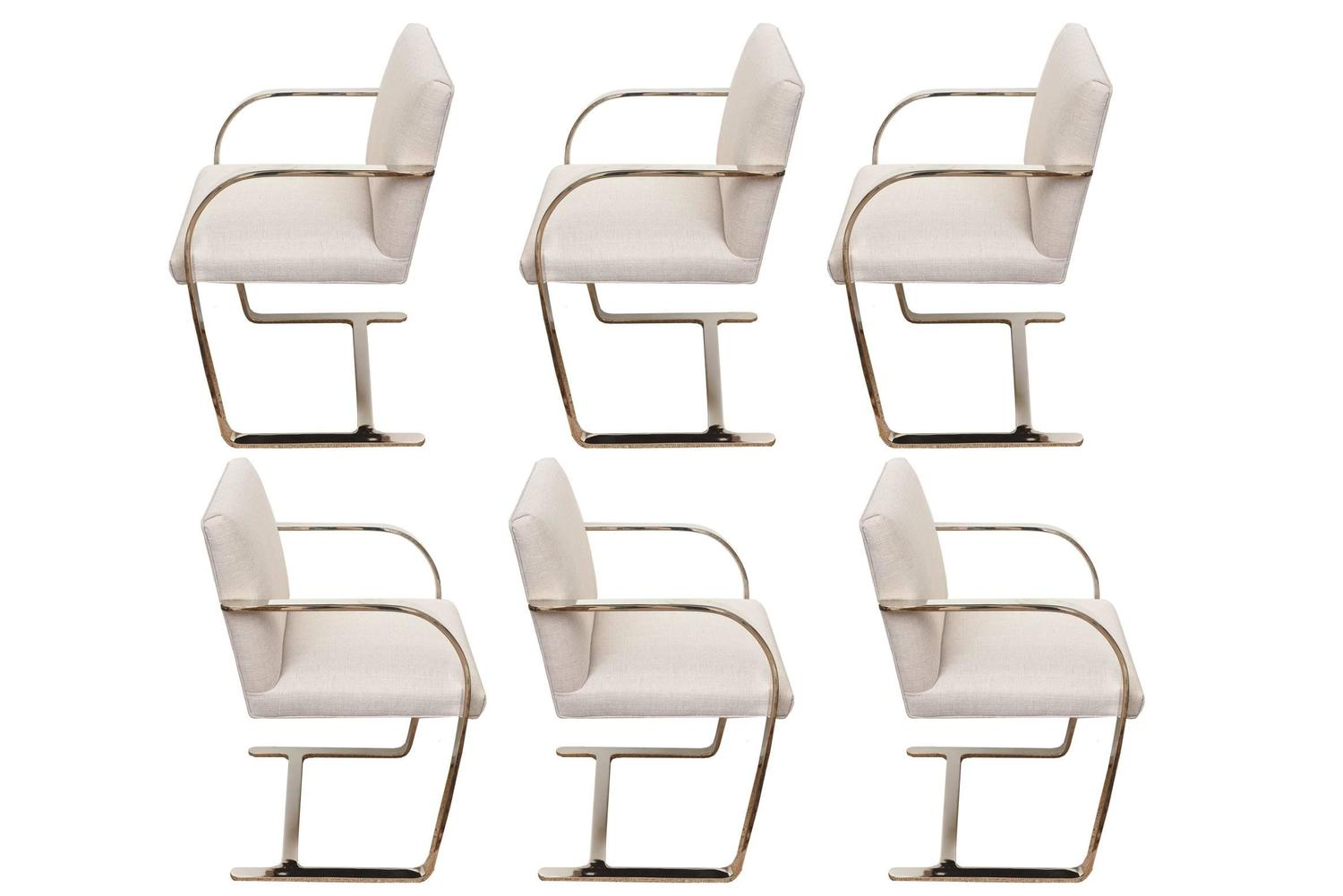 set of six knoll mies van der rohe brno dining chairs at 1stdibs