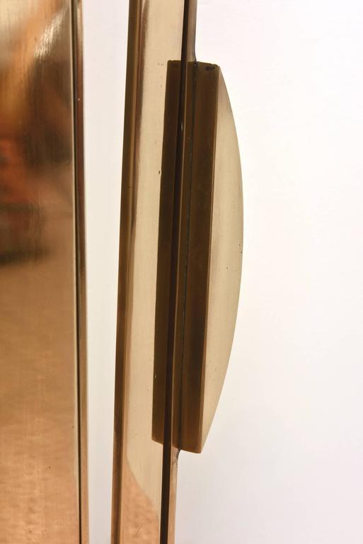 Monumental Original Signed Bronze Geometric Modernist Floor Sculpture For Sale 2