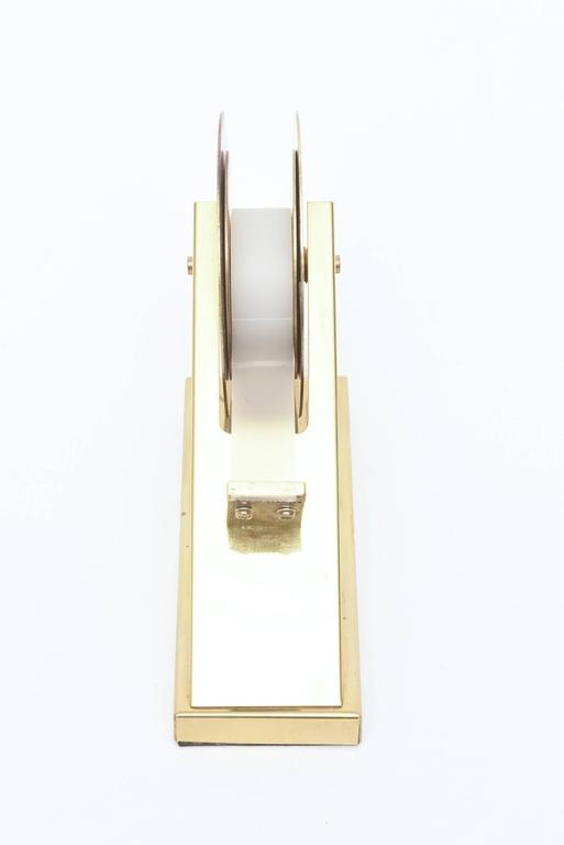 Modernist, Vintage and Sculptural Brass Tape Dispenser or Tape Holder In Good Condition For Sale In North Miami, FL