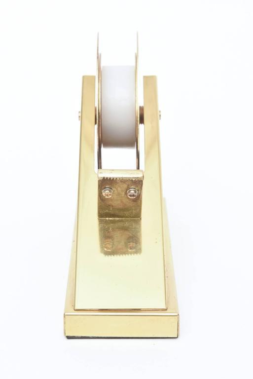 Modernist, Vintage and Sculptural Brass Tape Dispenser or Tape Holder For Sale 4