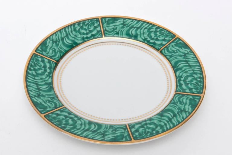 American Georges Briard Imperial Malachite Porcelain China Service Vintage For Sale