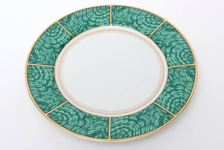 Georges Briard Imperial Malachite Porcelain China Service Vintage In Good Condition For Sale In North Miami, FL