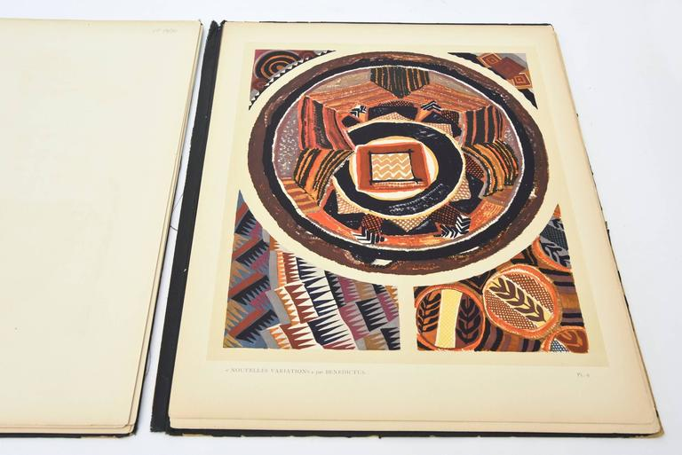 French Deco Set of 20 Benedictus Pouchoir Plates of the Portfolio of Variations For Sale 1