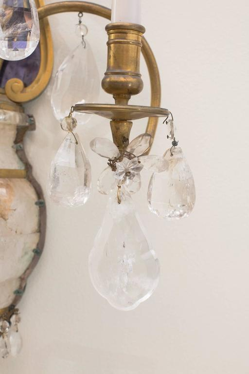 E.F.Caldwell Grand Rock Crystal Sconces 2