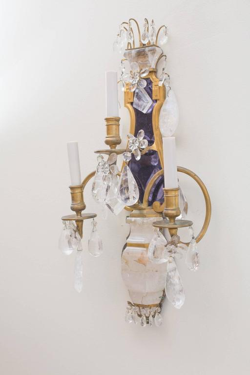 E.F.Caldwell Grand Rock Crystal Sconces 3
