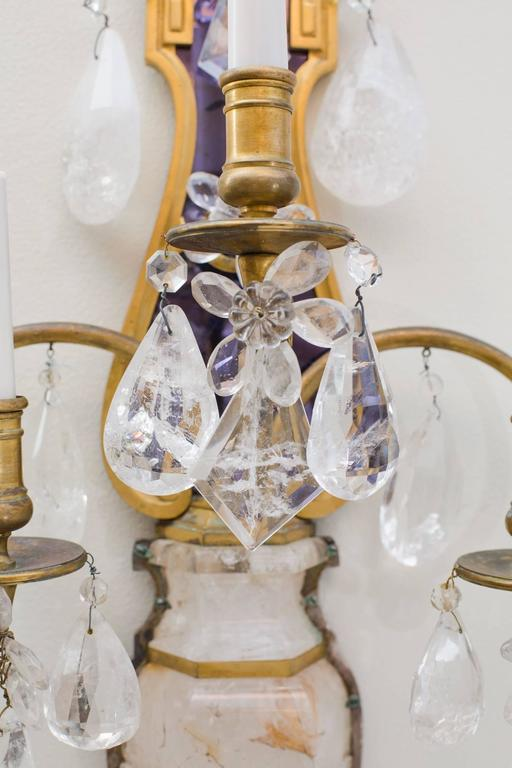 E.F.Caldwell Grand Rock Crystal Sconces 5