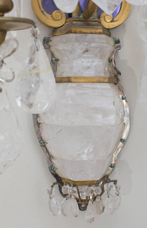 E.F.Caldwell Grand Rock Crystal Sconces 7