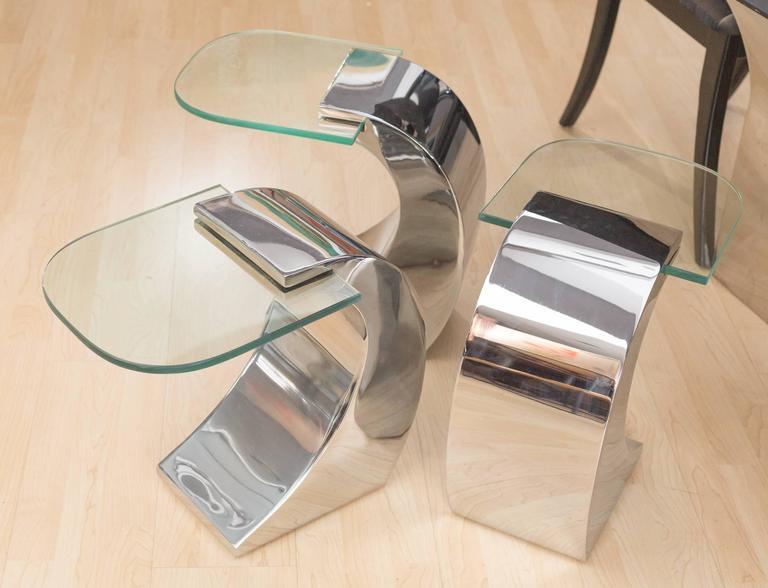 Pierre Cardin set of 3 Side Tables 5