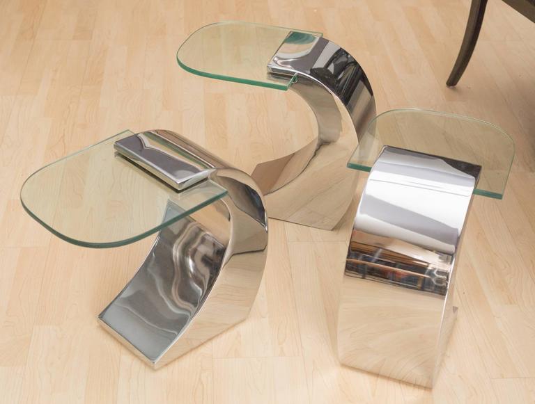 Pierre Cardin set of 3 Side Tables 6