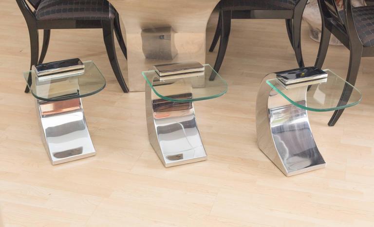 Pierre Cardin set of 3 Side Tables 4