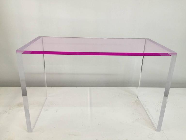 Whimsical Pink And Clear Acrylic Desk And Bench At 1stdibs. Wooden Table And Chairs For Toddlers. Solid Oak Table. Church Sound Desk. Antique Vanity Table. Cherner Table. Tall Table And Chairs. Swirl Desk Pen. Umbrella Base Table