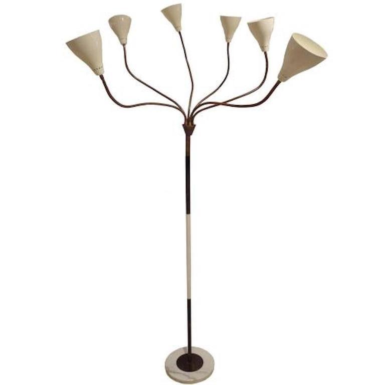 gino sarfatti multi arm mid century floor lamp model 1035 italy circa 1948 at 1stdibs. Black Bedroom Furniture Sets. Home Design Ideas