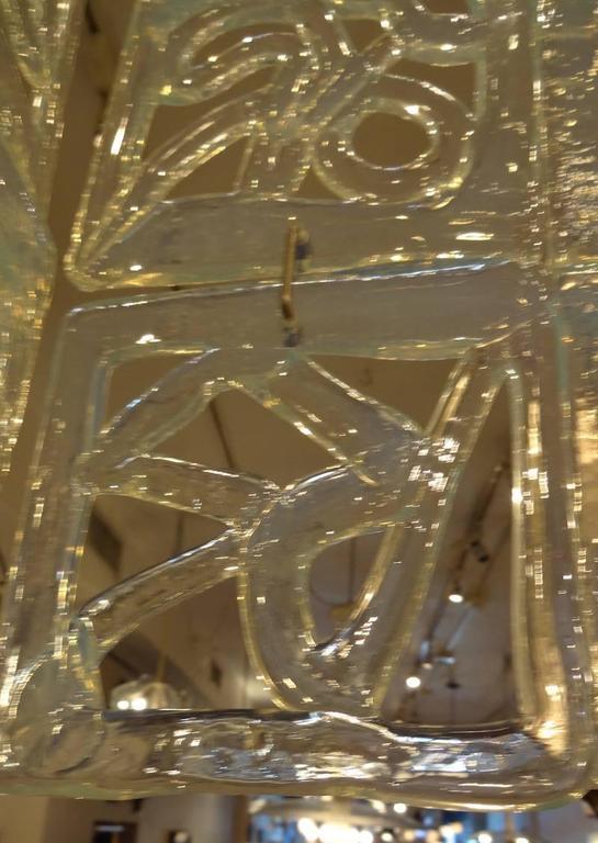 Carlo Nason Large-Scale Rectangular Glass Chandelier Italy circa 1960 8