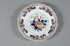 Early Worcester Stoneware Eight Dinner Plates