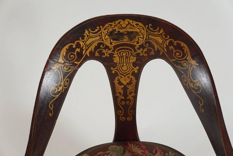 Pair of 19th Century Mahogany Spoon Back Chairs In Good Condition For Sale In Hudson, NY