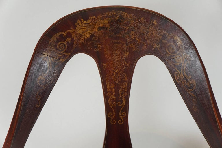 Pair of 19th Century Mahogany Spoon Back Chairs For Sale 1