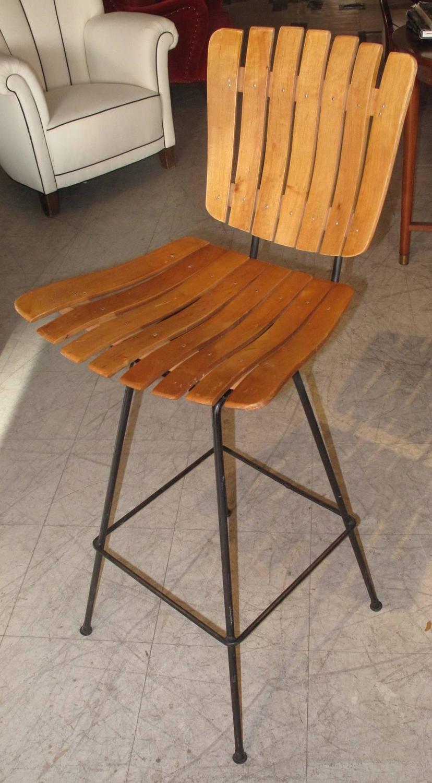 set of three swivel bar stools by arthur umanoff at 1stdibs. Black Bedroom Furniture Sets. Home Design Ideas