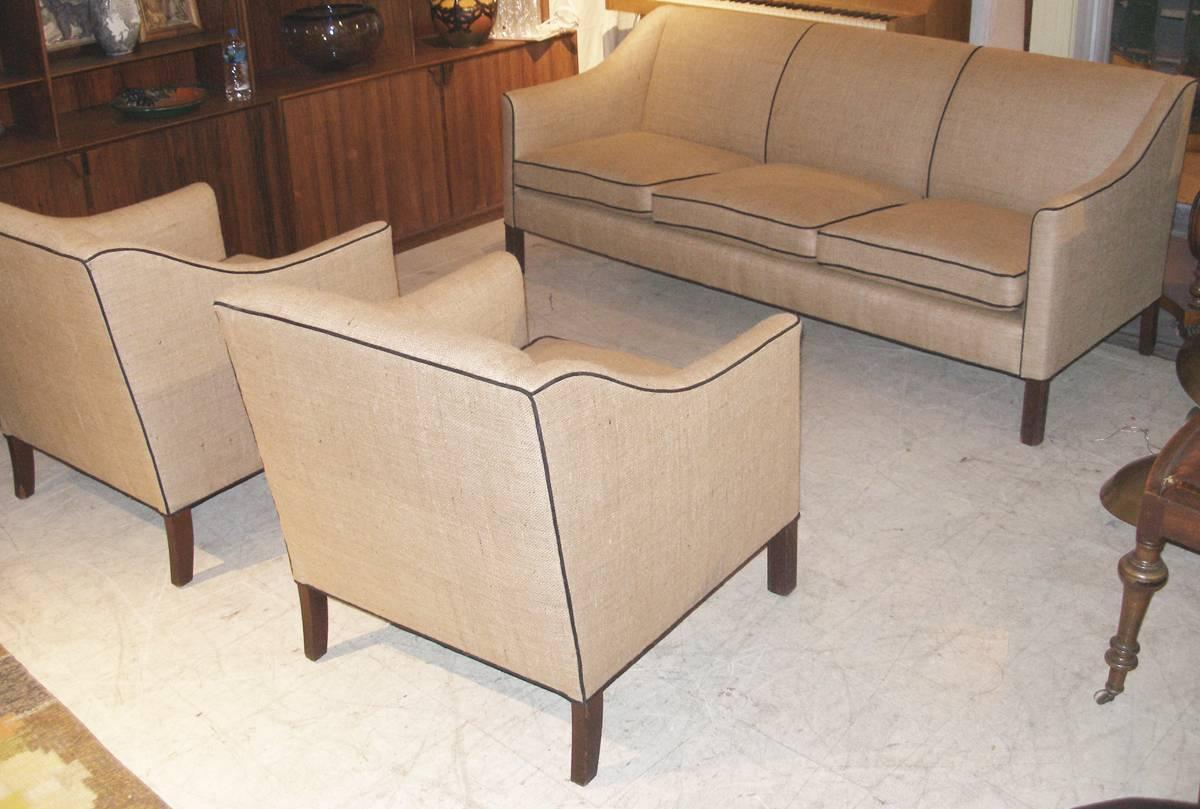 Danish cabinet maker sofa set 1940s for sale at 1stdibs for Danish living room furniture