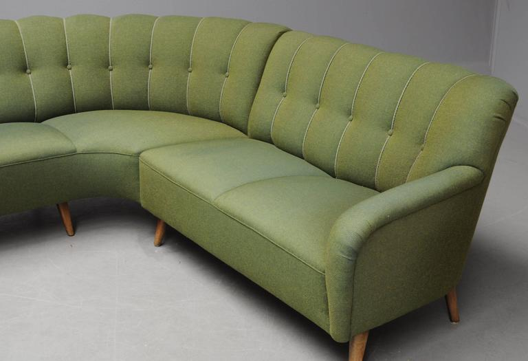 Scandinavian Modern 1940s Danish Sectional Sofa For Sale