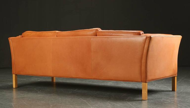 Danish 1960s-1970s Leather Sofa Upholstered Sofa 3