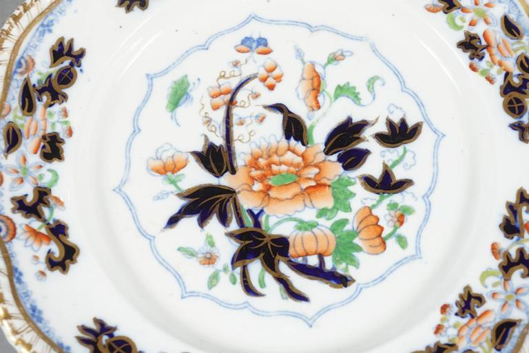 George IV Early Worcester Stoneware Eight Dinner Plates For Sale