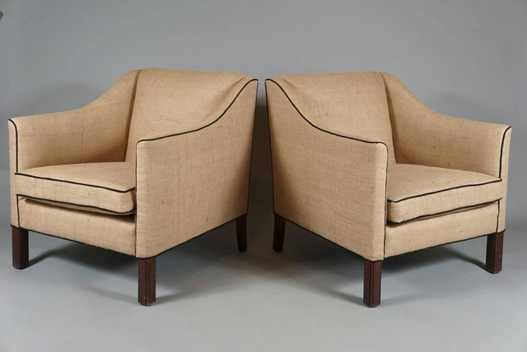 Pair of Danish Modern Armchairs 2