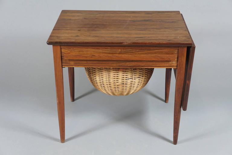 Danish Modern Drop-Leaf Sewing Table 2