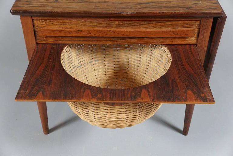 Danish Modern Drop-Leaf Sewing Table 4