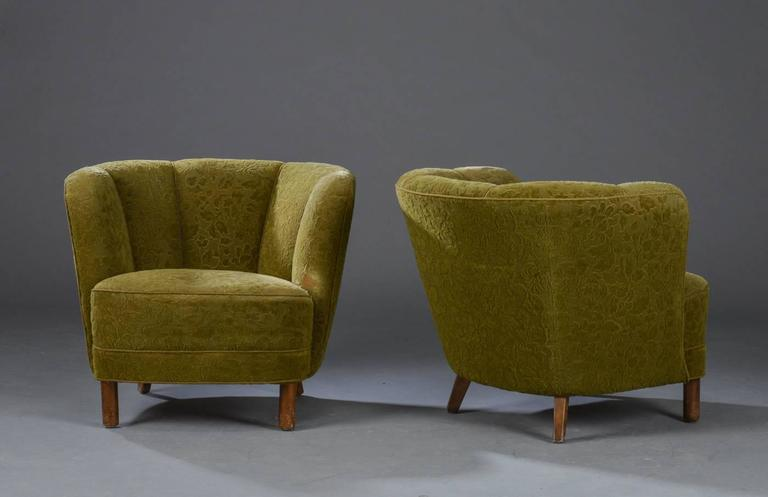 Scandinavian Modern Pair of Danish Modern Tub Chairs For Sale