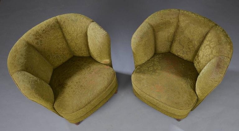 Pair of Danish Modern Tub Chairs In Good Condition For Sale In Hudson, NY