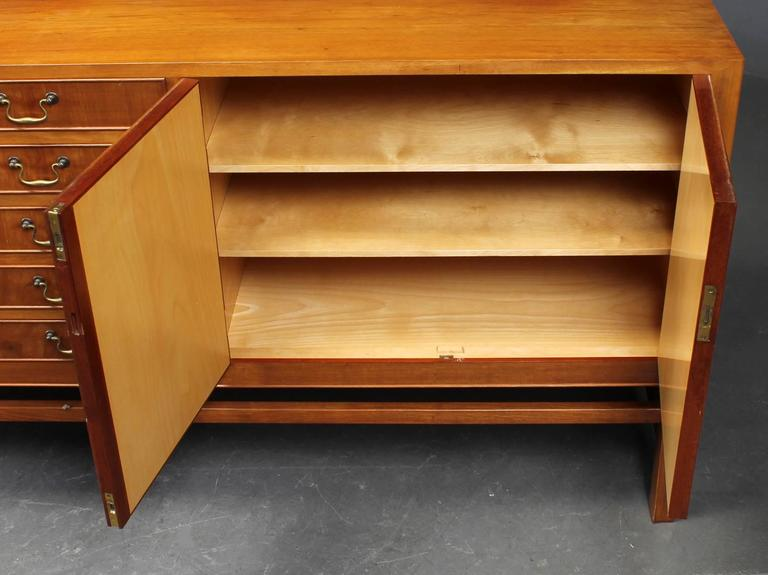 Nice Quality Danish 1940s Cuban Mahogany Sideboard In Good Condition For Sale In Hudson, NY