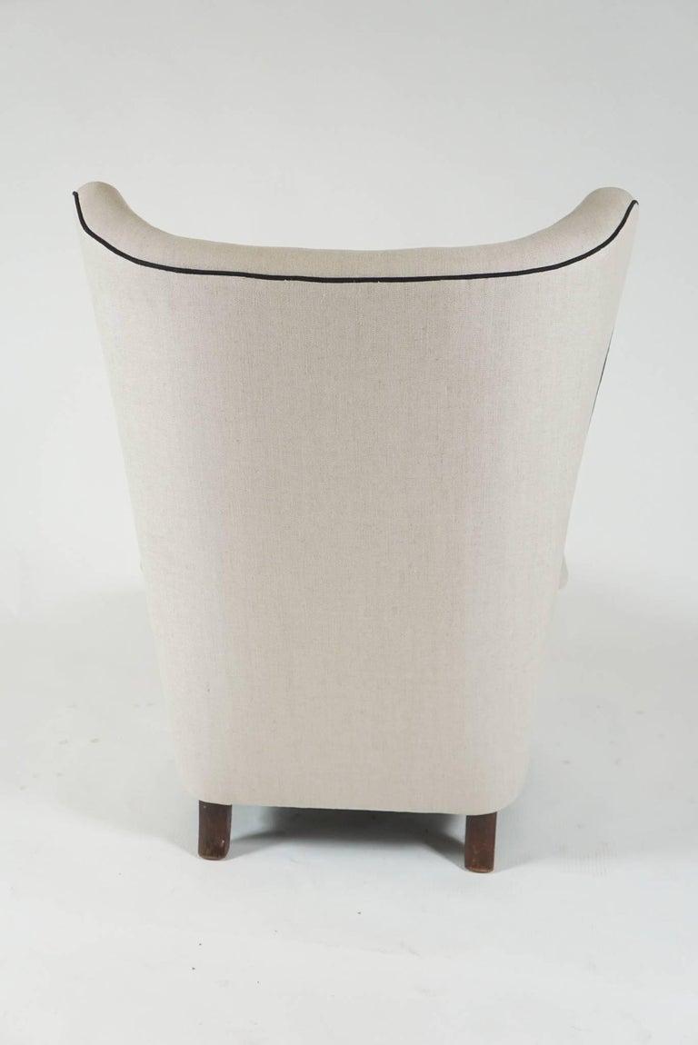 Danish Mogens Lassen Wingback Lounge Chair For Sale