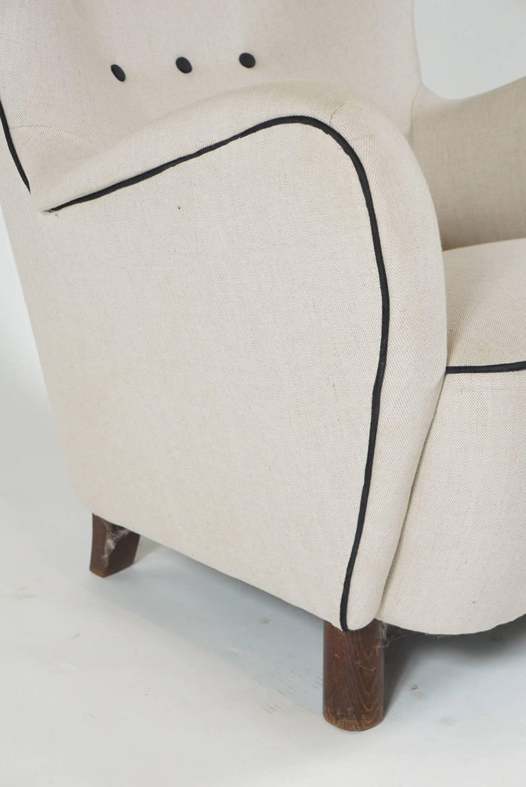 Mogens Lassen Wingback Lounge Chair For Sale 1