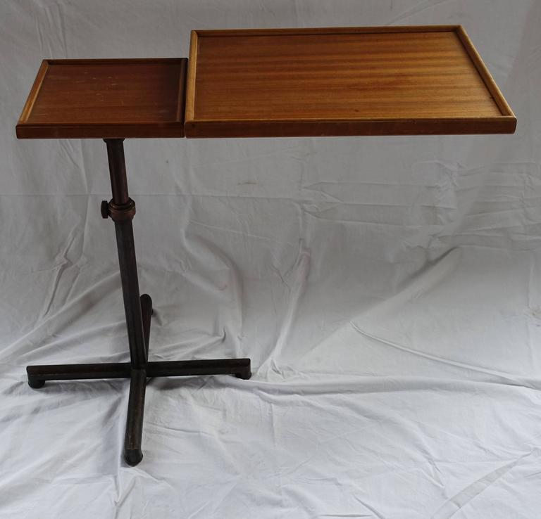 20th Century Swiss Cannelle High Low Adjustable Side Table, circa Mid-Century For Sale